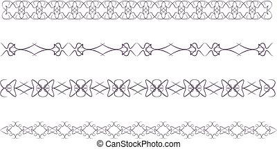 lace border - Set of vintage lace border