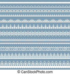 Lace Border - illustration of set of beautiful lace border...
