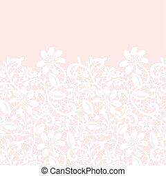 lace border isolated on pink background - Wedding invitation...