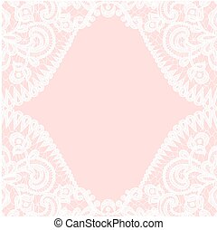 lace border on pink background
