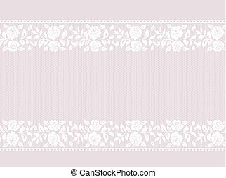 Lace border on pink