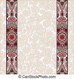 lace border stripe in ornate floral background, vector...
