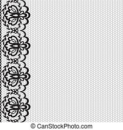 lace border - Iinvitation or greeting card with lace border