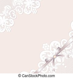 Lace borders - White lace borders with bow and jewelery