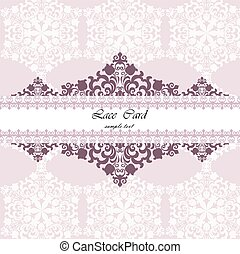 Lace card with ornament pattern