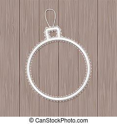 Lace Christmas ball