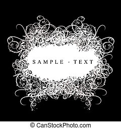 Lace Curves Black And White Banner