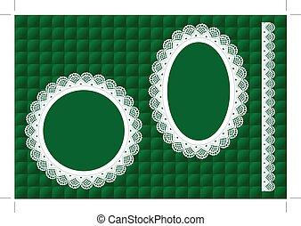 Lace Doily Frames, Emerald Quilt