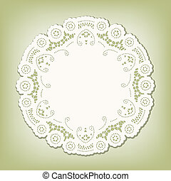 Lace Doily Place Mat, Vintage Style - Lace Doily, antique...