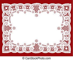 Lace Doily Placemat - Vintage white lace doily place mat for...