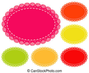 Lace Doily Placemats, Summer Bright