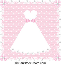 lace dress and pearls - wedding scrapbook card with lace...