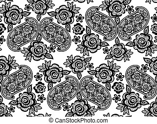 lace embroidery pattern vector