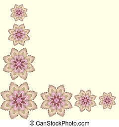 Lace floral colorful ethnic ornament