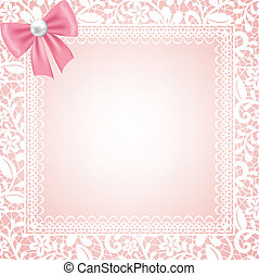 lace floral frame - Wedding, invitation or greeting card...