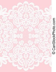 lace frame - Wedding invitation or greeting card with lace...