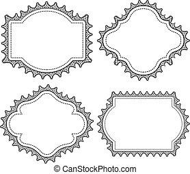 lace frame doodle