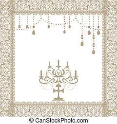 Lace frame - Illustration vector