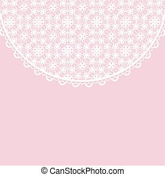 lace frame on pink background