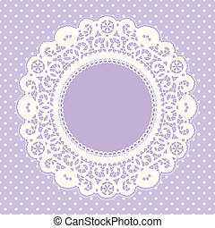 Lace Frame, Polka Dot Background - Vintage Lace Doily ...