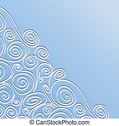 Lace frame with spirals pattern