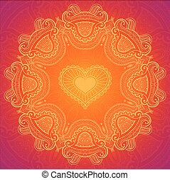 Lace greeting card for Valentine day - Lacy arabesque...