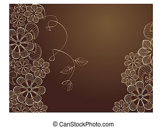 Lace - Beauty floral illustration, place for your text