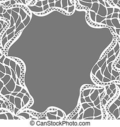 Lace ornamental background with abstract waves. Vintage fashion textile
