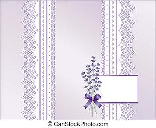 Lace, Pastel Satin, Lavender Flower