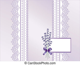 Lace, Pastel Satin, Lavender Flower