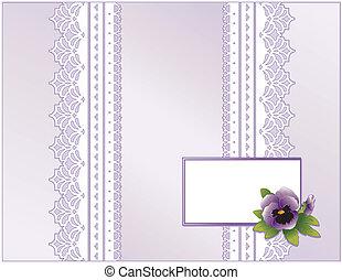 Lace, Pastel Satin, Pansy Flower