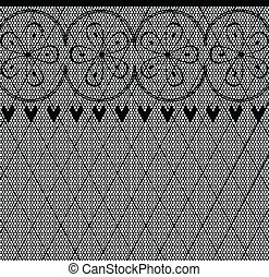 Lace Pattern - A lace stocking background in a fishnet style...