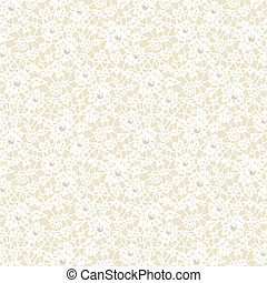 lace pattern - Seamless white lace pattern with pearls