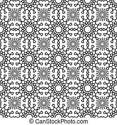 lace pattern geometric seamless monochrome - vector ...