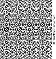 Lace pattern - seamless black lace pattern on a white...