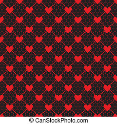 lace pattern with heart
