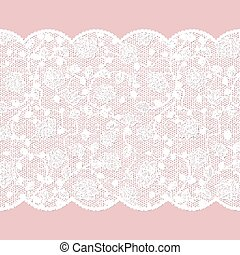 Lace pattern with roses on pink background