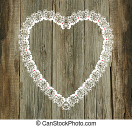 lace pattern wood old background valentines day wedding