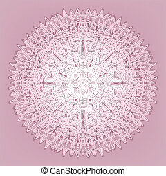 Lace pink pattern - vector illustration