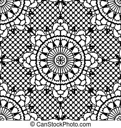 Lace seamless pattern. EPS 8 vector illustration