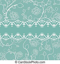 Lace seamless pattern with pearls