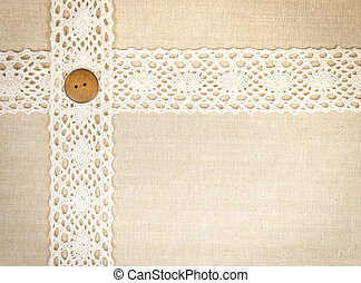 Lace - Fabric with a strip of lace for texture and frame