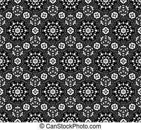 Lace vector fabric seamless  pattern with flowers