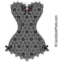 lace vintage corset
