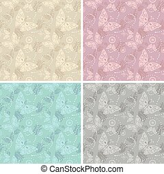 Lace white seamless pattern. Vector illustration.