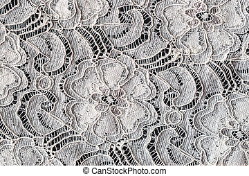Lace with Flower Pattern on Black Background