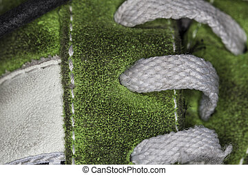 laces of the shoe macro