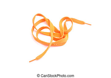 Laces - Orange shoe laces isolated on white