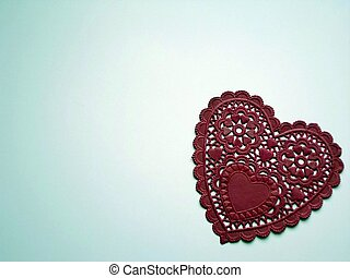 Lacey Red Heart - A beautiful lacey red heart on a white ...