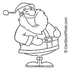 lach, geschetste, kerstman